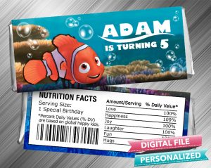 Finding Nemo Hershey Candy Bar Wrapper