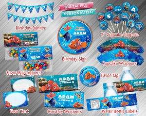 Finding Nemo Printable Birthday Package
