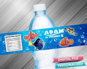 Finding Nemo Water Bottle Label