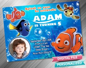 Finding Nemo Invitation with picture