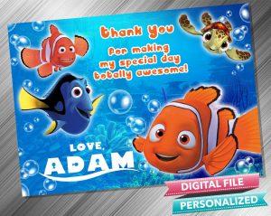 Finding Nemo Thank you Card