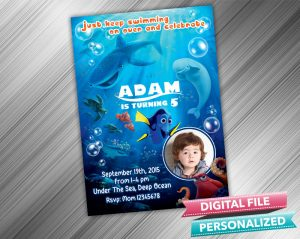 Finding Nemo Birthday Invitation with picture