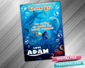 Finding Nemo Birthday Thank you Card