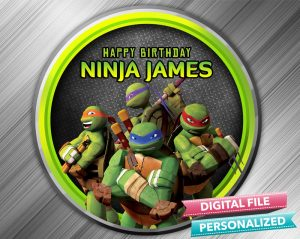Ninja Turtle Birthday Sign