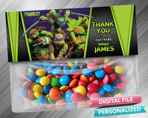 Ninja Turtle Treat Bag Toppers