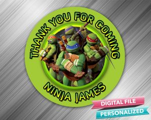 Ninja Turtle Favor Tag