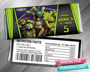 Ninja Turtle Hershey Candy Bar Wrapper