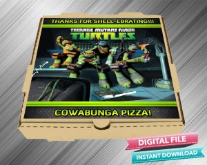 Ninja Turtle Pizza Label