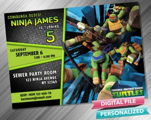 Teenage Mutant Ninja Turtles Invitation