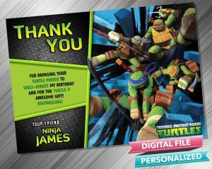 Teenage Mutant Ninja Turtles Thank you Card