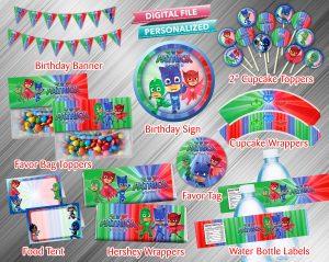 PJ Masks Printable Birthday Package