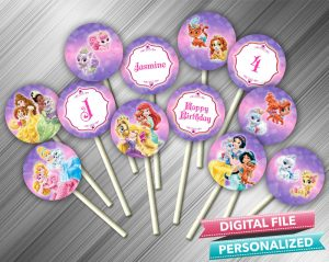 Disney Princess Palace Pets Cupcake Toppers