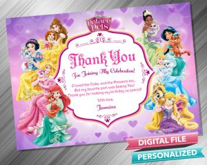 Disney Princess Palace Pets Thank you Card