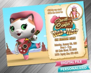 Sheriff Callie Birthday Invitation with picture