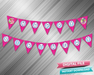 Shopkins Birthday Banner