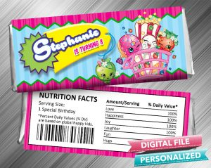 Shopkins Hershey Candy Bar Wrapper