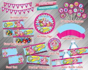 Shopkins Printable Birthday Package