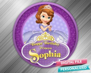 Sofia the First Birthday Sign