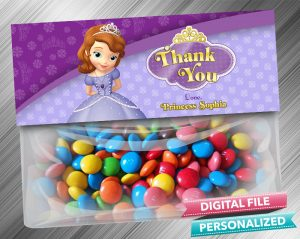 Sofia the First Favor Bag Toppers