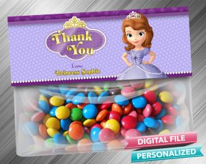 Sofia the First Treat Bag Toppers