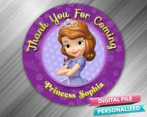 Sofia the First Favor Tag