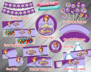 Sofia the First Printable Birthday Package