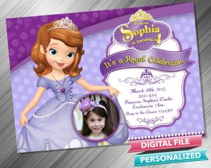 Sofia the First Invitation with picture