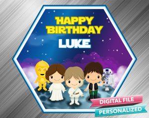 Star Wars Birthday Sign