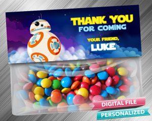Star Wars RD2 Favor Bag Toppers