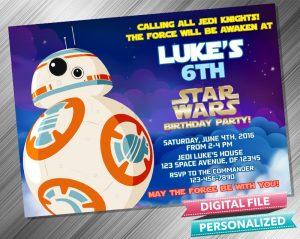 Star Wars RD2 Invitation