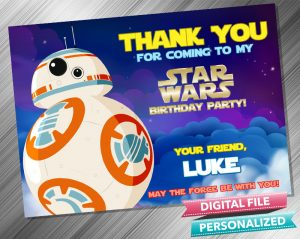 Star Wars RD2 Thank you Card
