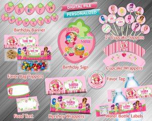 Strawberry Shortcake Printable Birthday Package