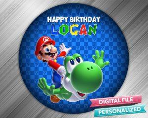 Super Mario Birthday Sign