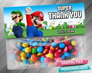 Super Mario Treat Bag Toppers