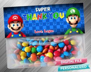 Super Mario Favor Bag Toppers