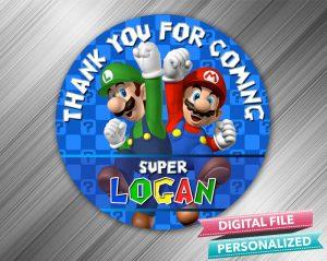 Super Mario Favor Tag