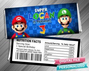 Super Mario Hershey Wrapper