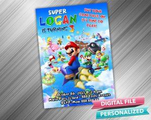 Super Mario Invitation