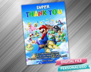 Super Mario Thank you Card