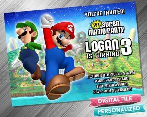 Mario and Luigi Invitation