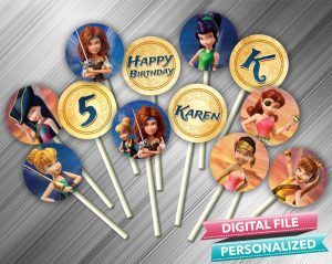 Tinkerbell and the Pirate Fairy Cupcake Toppers