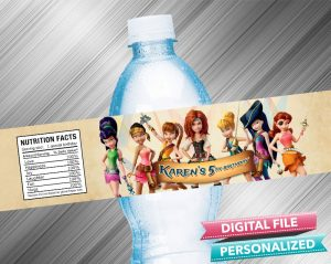 Tinkerbell and the Pirate Fairy Water Bottle Label