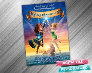 Tinkerbell and the Pirate Fairy Invitation