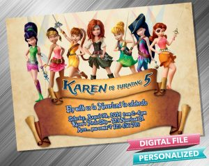 Tinkerbell The Pirate Fairy Invitation