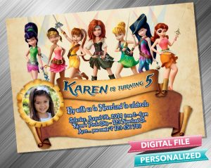 Tinkerbell The Pirate Fairy Invitation with picture