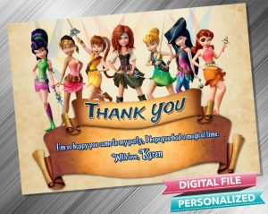 Tinkerbell The Pirate Fairy Thank you Card