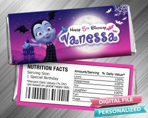 Vampirina Hershey Candy Bar Wrapper