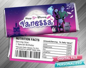 Vampirina Hershey Wrapper