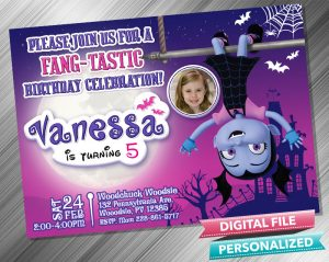 Vampirina Invitation with picture