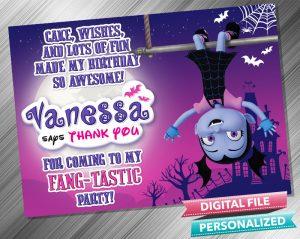Vampirina Thank you Card